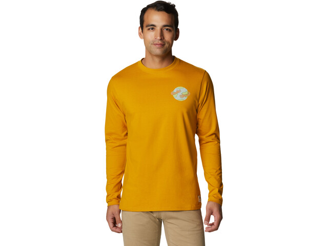 Mountain Hardwear Keep Earth Awesome Longsleeve Heren, gold hour